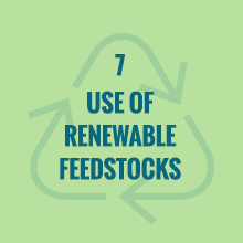 use of renewable feedstocks